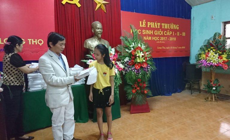 Lễ phát thưởng học sinh giỏi 2017-2018
